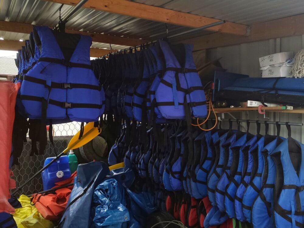 Wisconsin Canoe Company life jackets
