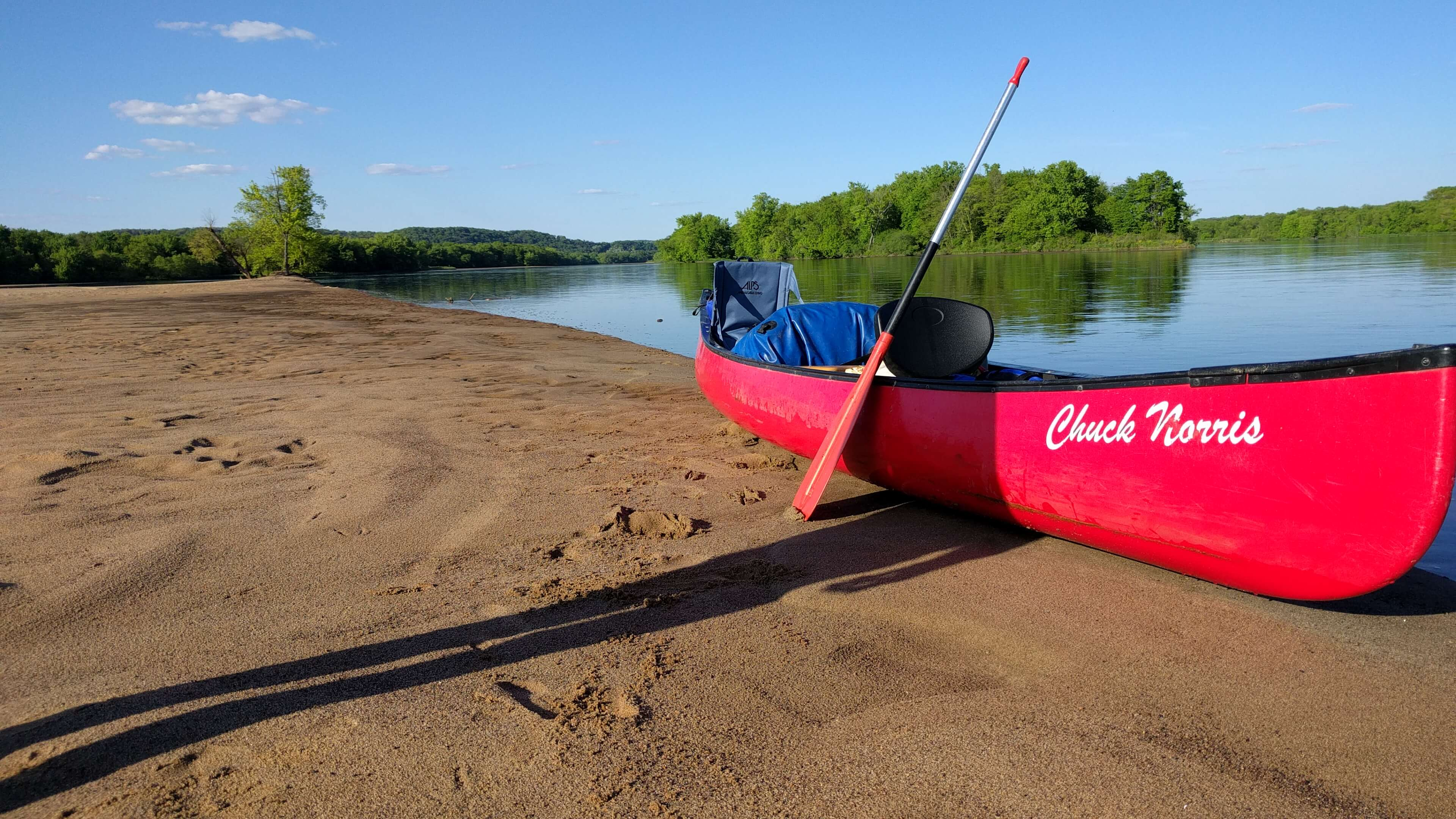 Spring paddling on the Wisconsin River