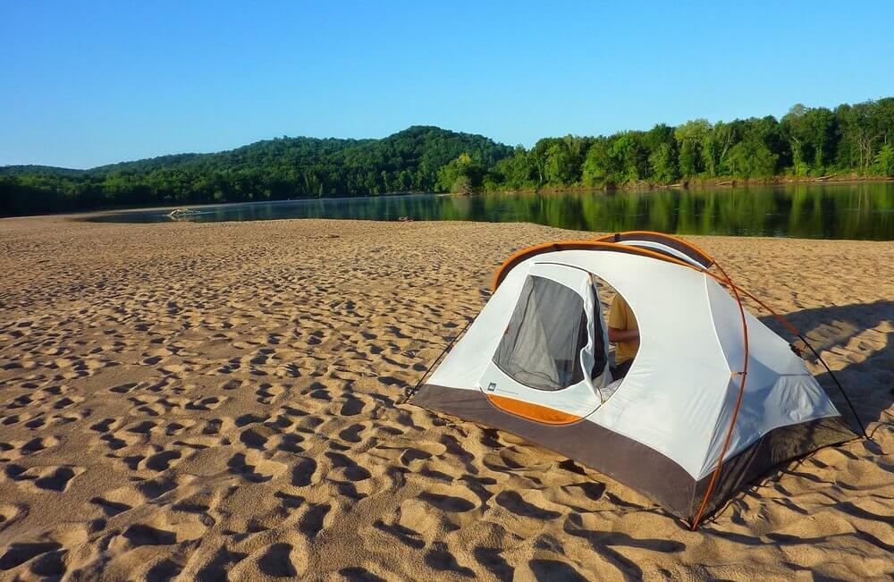 Wisconsin River sandbar camping with Wisconsin Canoe Company