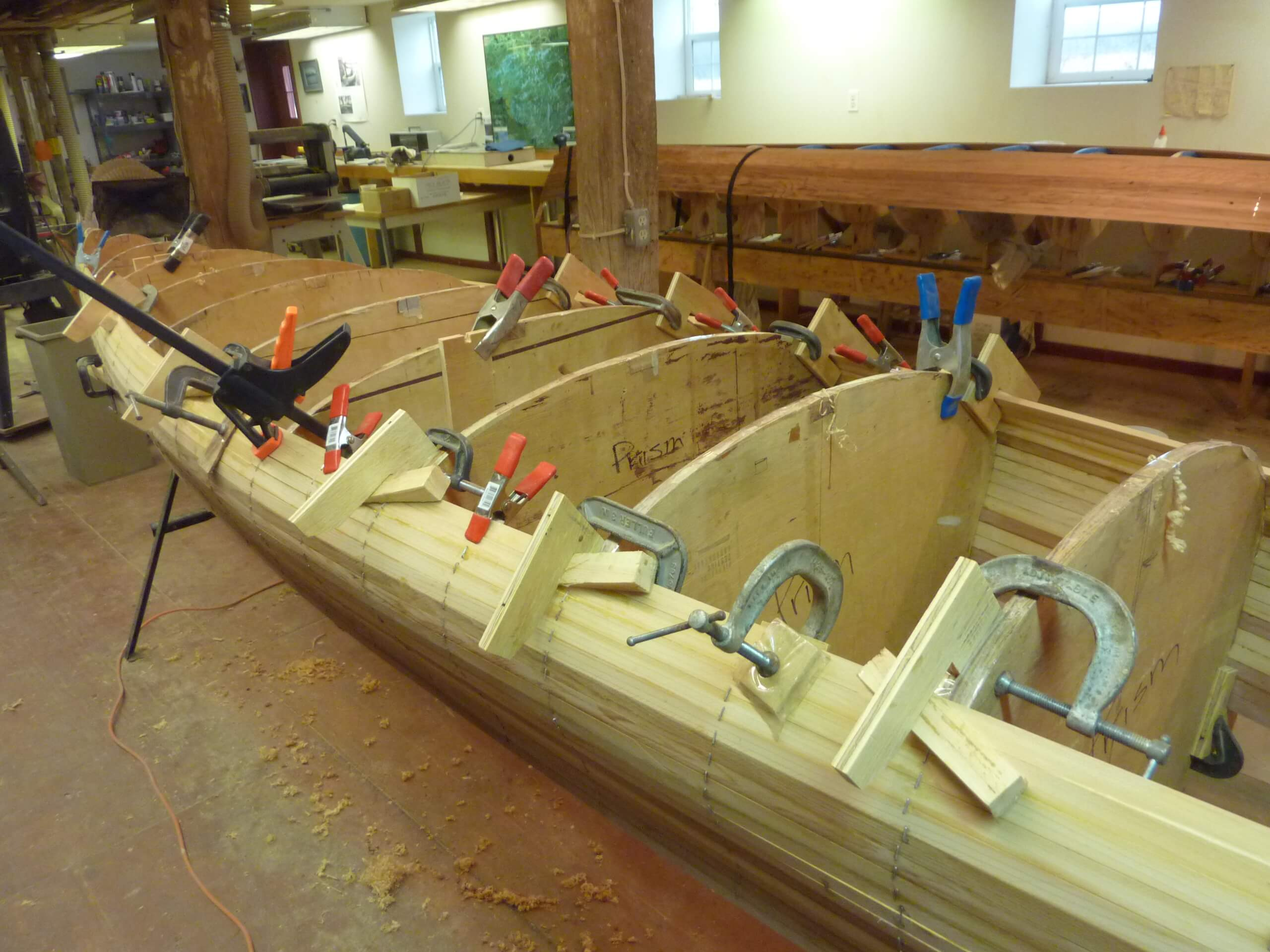 Building a cedar strip canoe with Wisconsin Canoe Company